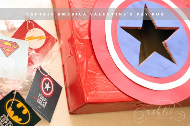 Captain America Valentine box