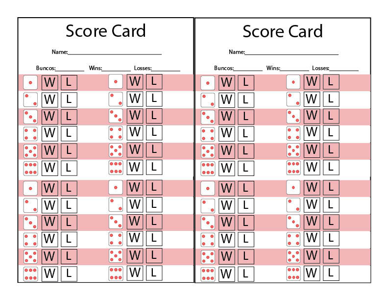This is a photo of Printable Bunco Sheets for golf score