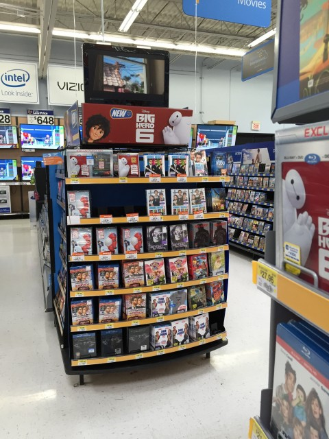 Big Hero 6 DVD and Blu Ray at Walmart