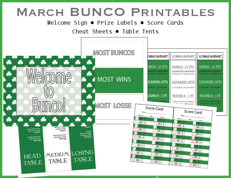 It is a picture of Printable Bunco Sheets with bunco dice