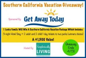 southern California vacation giveaway