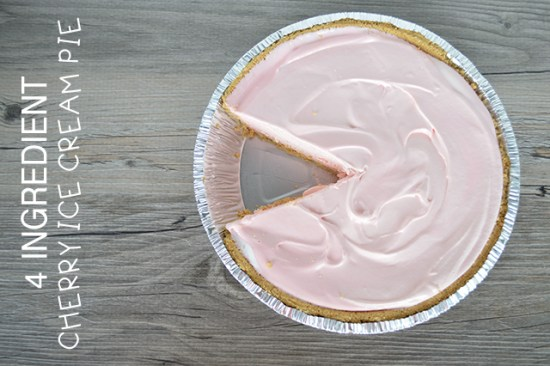4-ingredient Cherry Ice Cream Pie