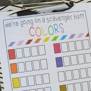 Color Scavenger Hunt – Free Printable