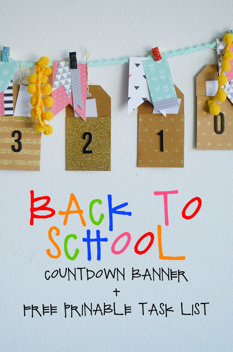 back to school countdown pocket banner tatertots and jello