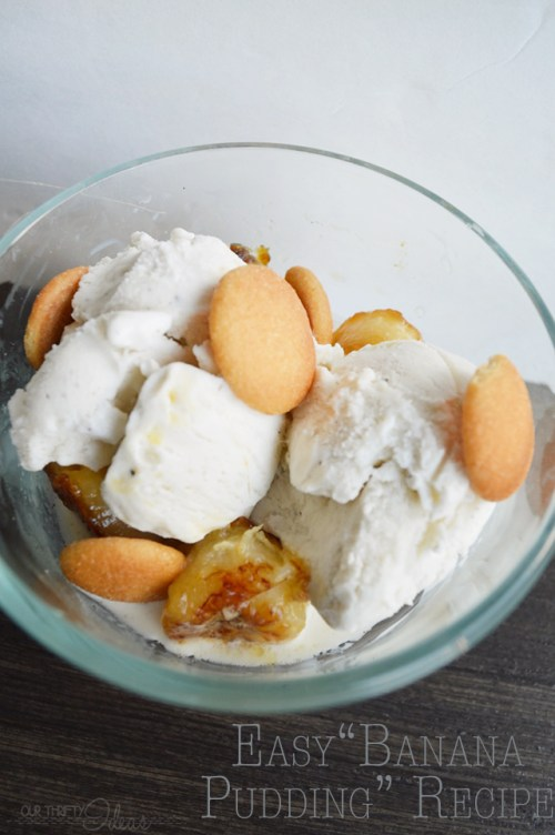 easy and quick banana pudding recipe at OurThriftyIdeas.com