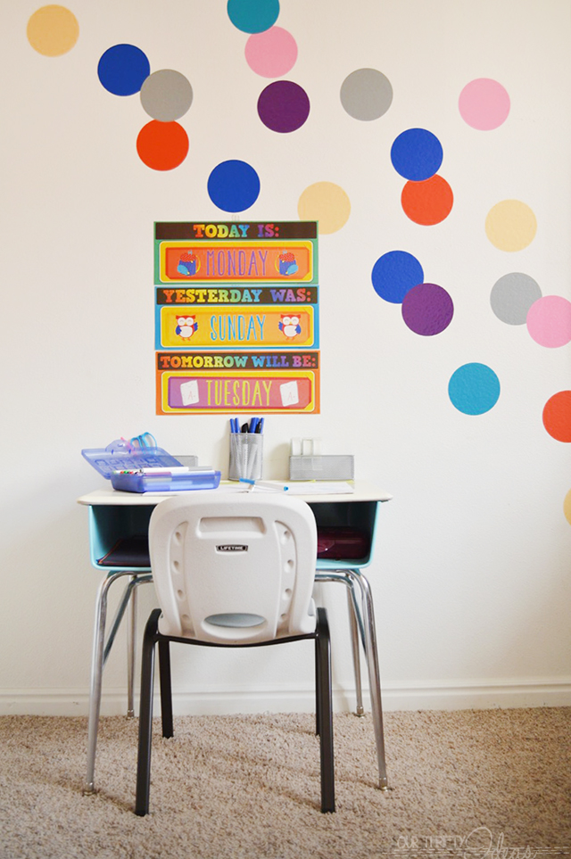 kids craft and homework station