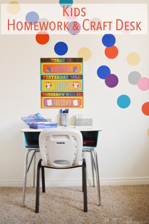 kids homework and craft desk