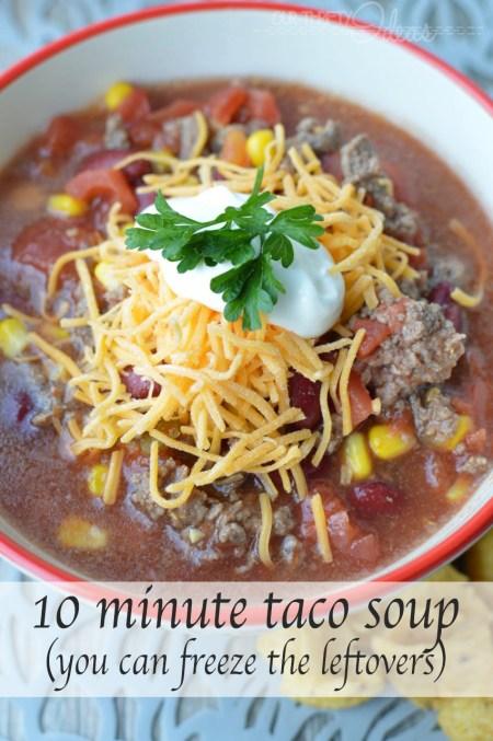 10 minute taco soup recipe