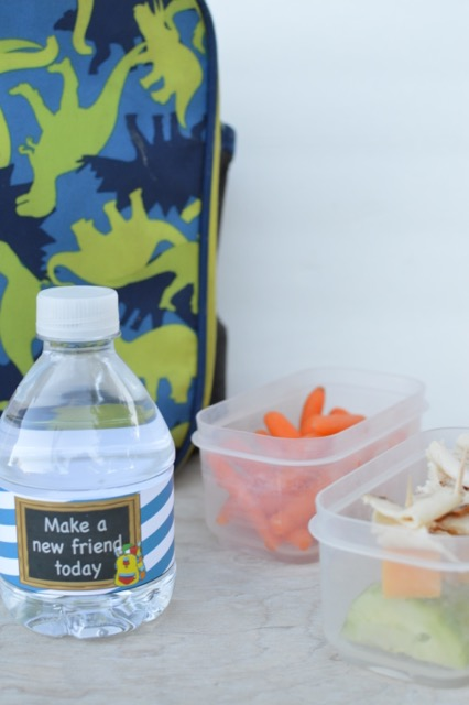 The cutest water bottle labels for kids. Wrap it around their drink for school so they have a fun and encouraging note