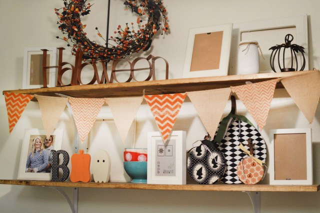 Halloween Shelf Decor