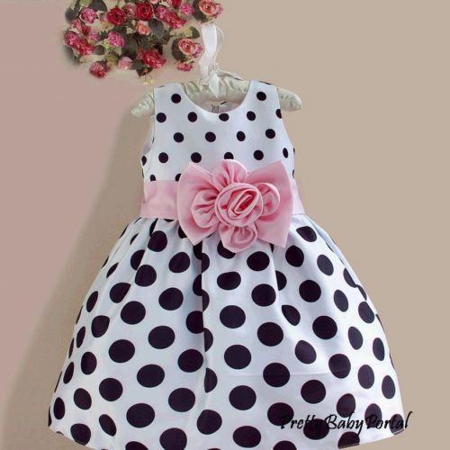 black & white polka dot dress