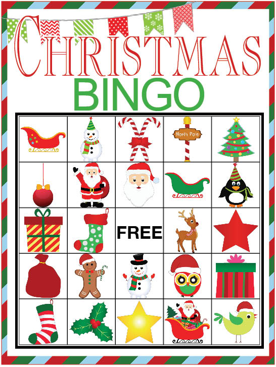 This is an image of Adaptable Free Printable Christmas Bingo Cards for Large Groups