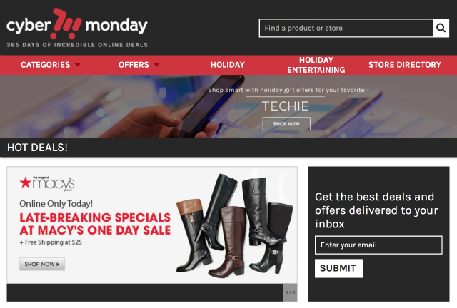 CyberMonday.com - deals and sales for hundreds of retailers, 365 days a year