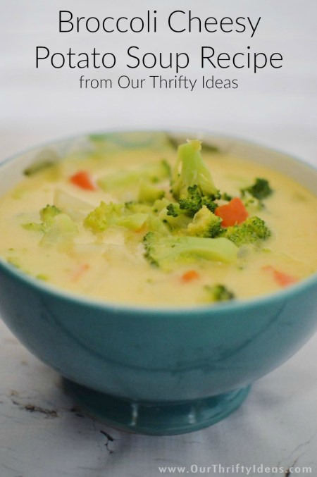 This is the best recipe for a cheddar potato & broccoli soup. And the best part is that you can add any other vegetables you have on hand. Plus you can easily make it a crockpot meal.