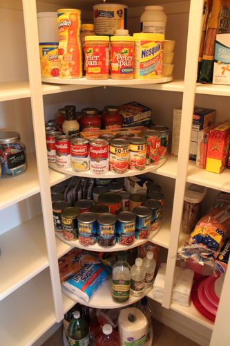 lazy susan in the corner of your pantry