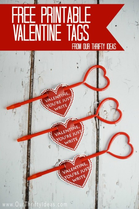 Valentine printable for your kids to give their friends