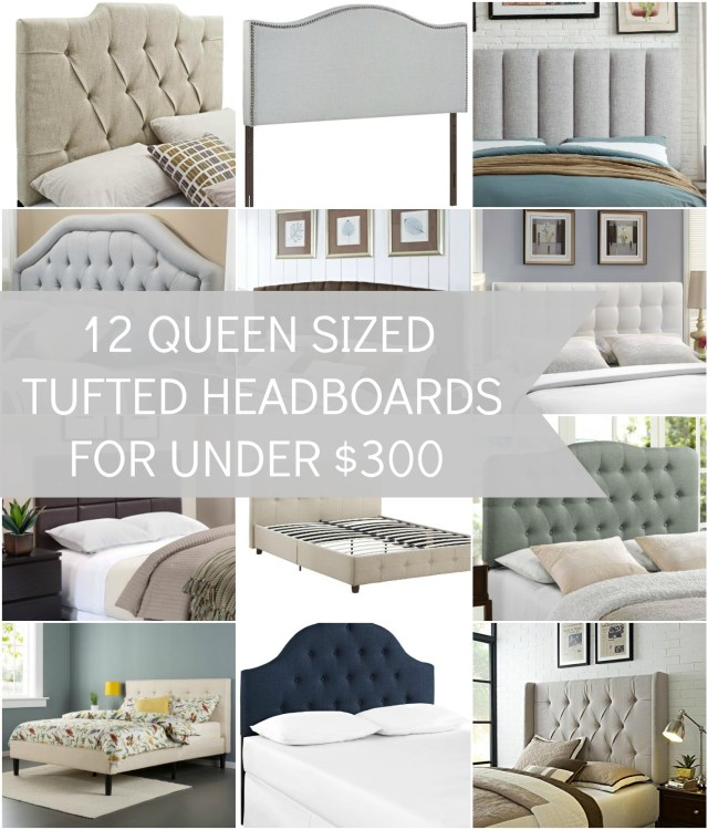 Did you know you can get some beautiful tufted queen size headboards for under $300. Some even as low as $70!