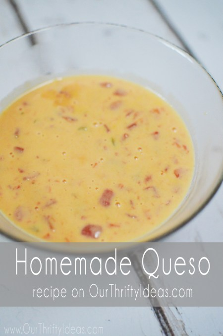 2 ingredient homemade queso recipe. It's so simple and you can even make it in the crockpot.