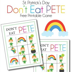 St Patricks Day Don't Eat Pete Printable Download