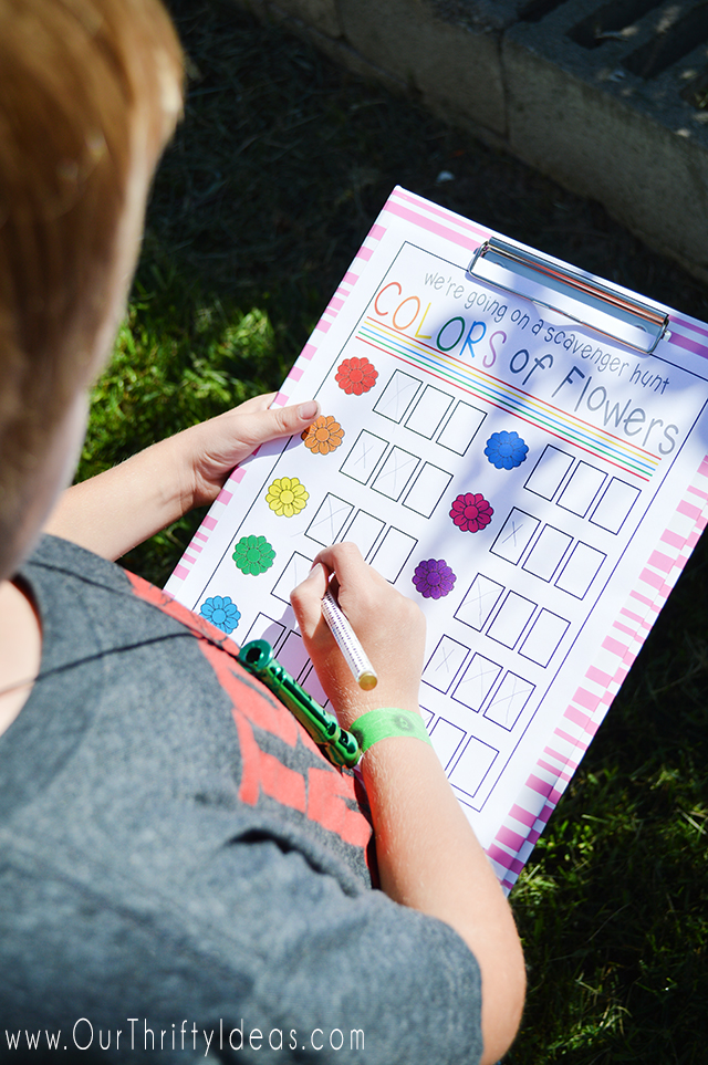 Get the kids outside and active this Summer with this printable Scavenger Hunt game.