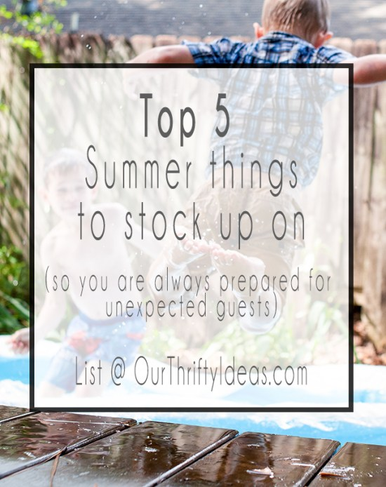 these are definitely my top things that I always make sure I have on hand during the Summer months.