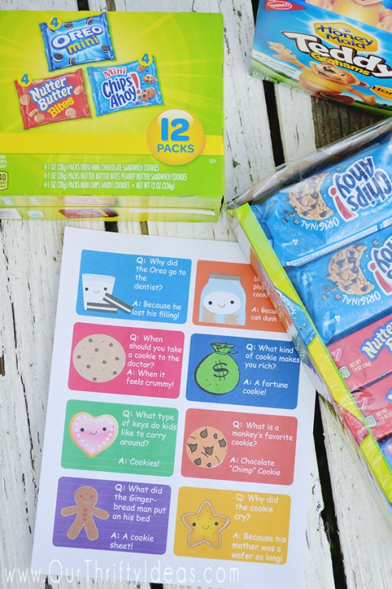 These tags are such a fun way to give your kids an surprise in their lunchbox or after school snack.