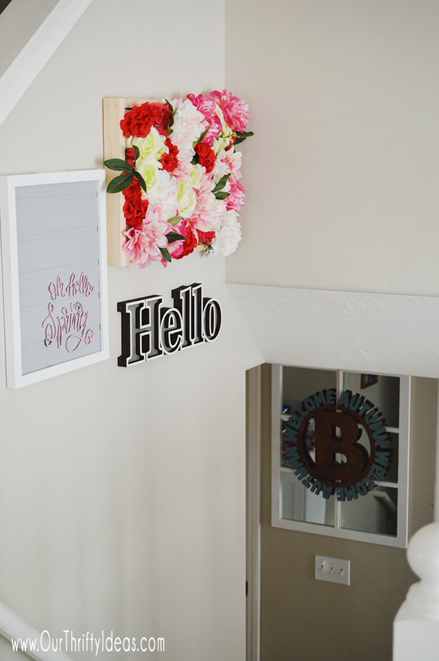 How to make a wall mounted faux flower garden