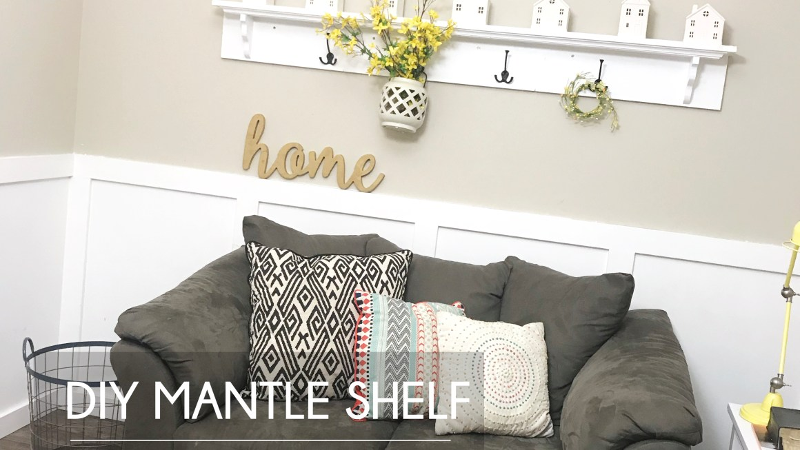 DIY Mantle Shelf with Hooks – Make It Yourself Tutorial