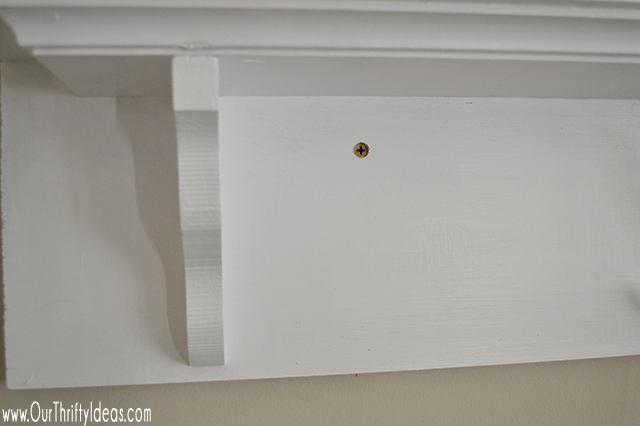 This mantle shelf is simple, 6 ft long, and beautiful! Plus it cost less than $40 to create!