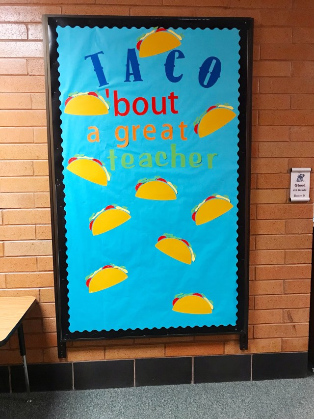 teacher appreciation bulletin board