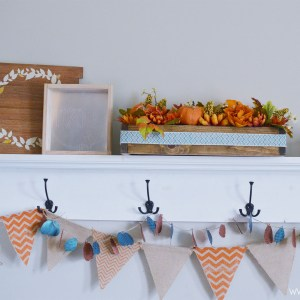 Fall Shelf Decor made with cricut maker