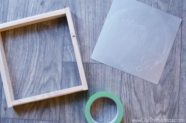 Creating a fall decor with cricut maker