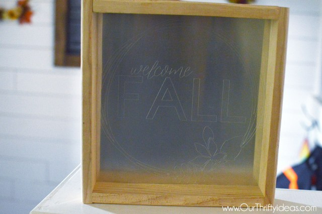 welcome Fall engraving, cricut maker