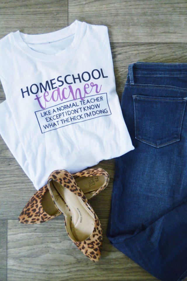 Homeschool teacher shirt tutorial