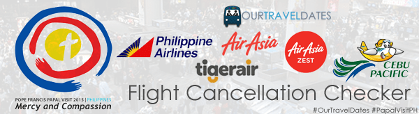 Papal Visit PH Cancelled Flights Checker
