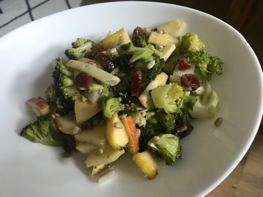 Apple Broccoli salad with Cranberries