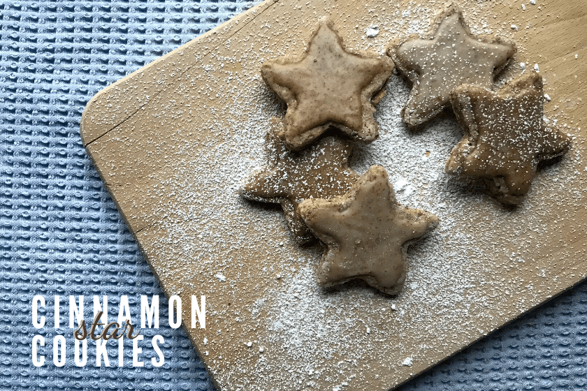 Vegan Cinnamon Star Christmas Cookies