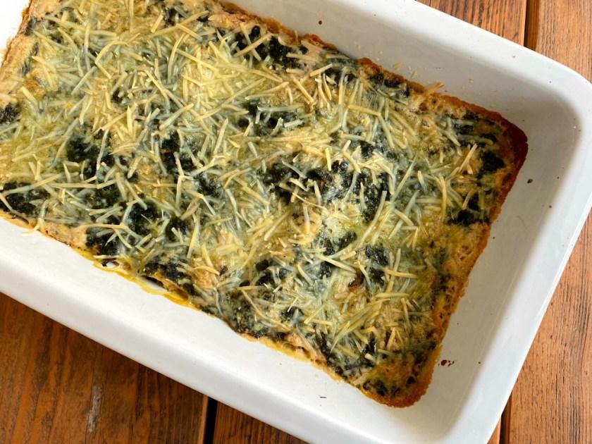 Vegan Creamy Spinach Lasagne