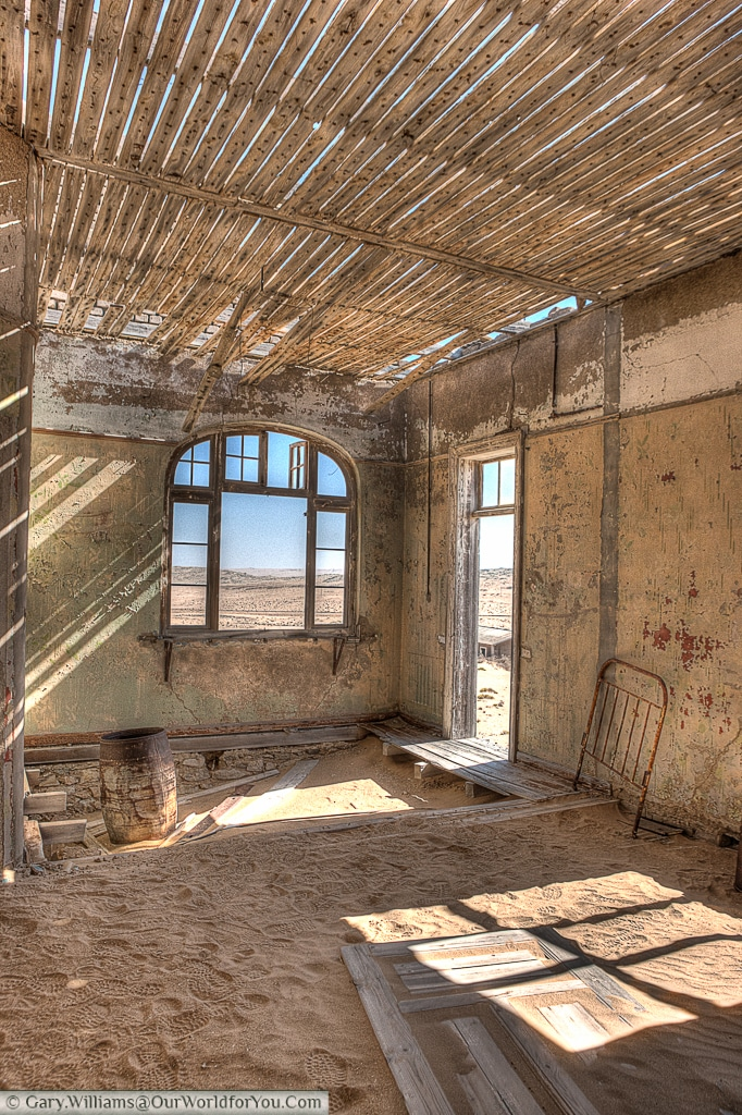 Access all areas, Kolmanskop, Namibia