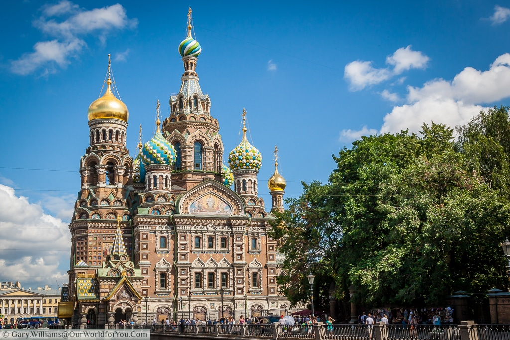 Church of the Savior on Spilled Blood Moyka River, St Petersburg, Russia