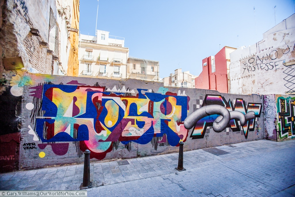 This is not just graffiti - this is art. Valencia, Spain