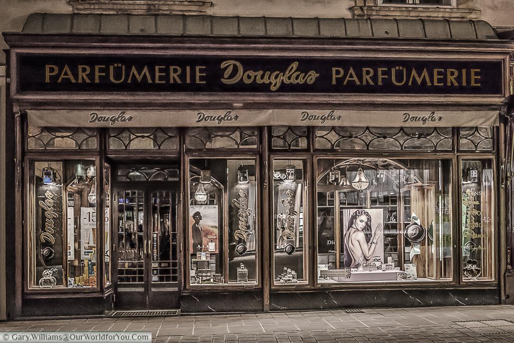 A view of the Parfümerie Douglas, Vienna, Austria