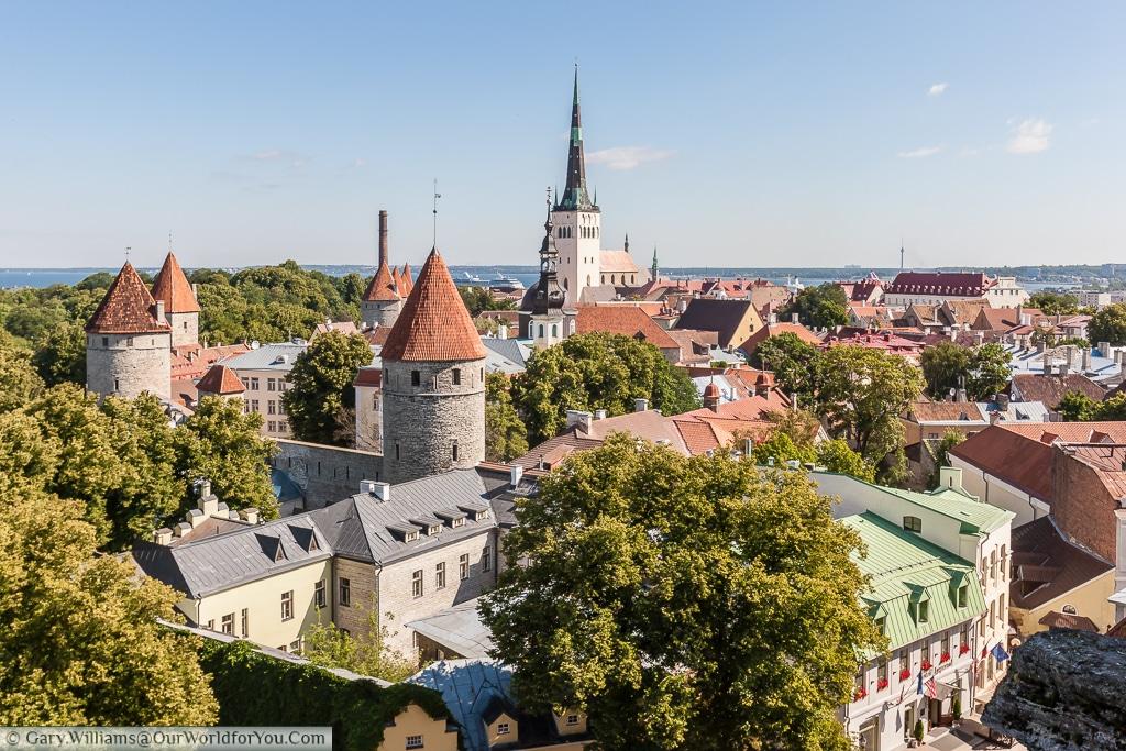 Patkuli viewing platform - one of the best views of Old Tallinn.