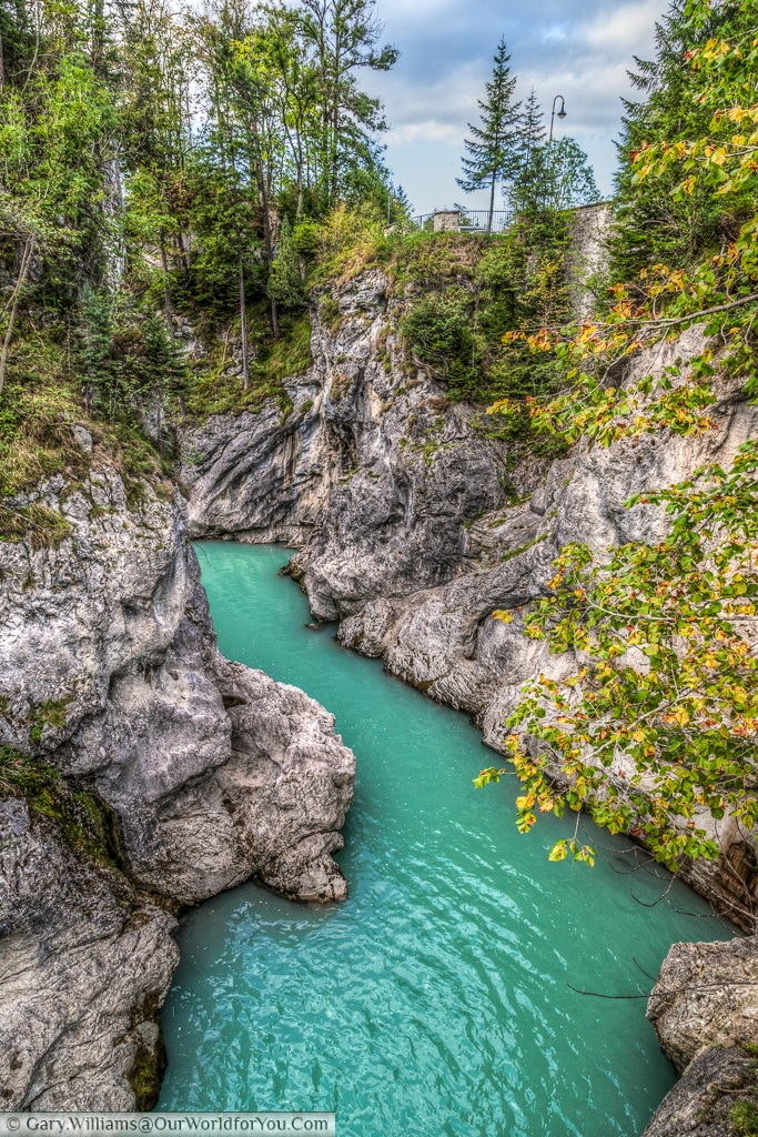 River Lech - after the falls, Füssen,Bavaria, Germany