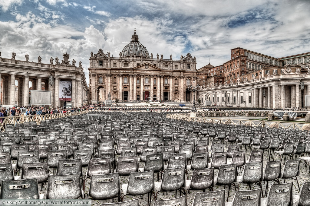 St. Peter's Basilica in the Vatican City, Rome, Italy