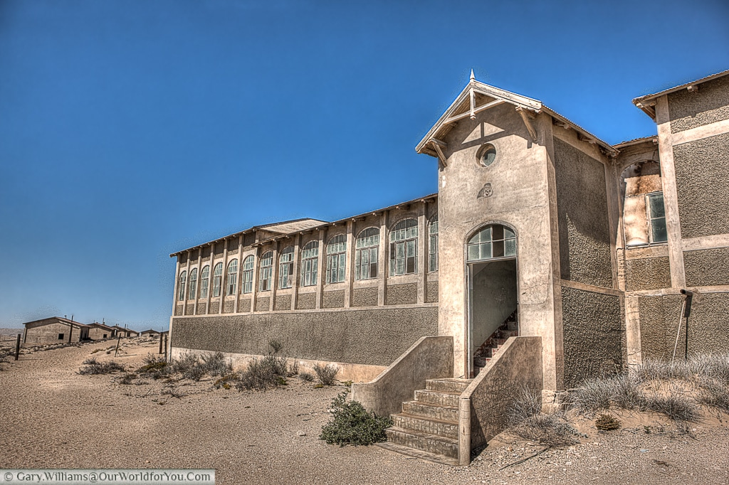 The hospital block , Kolmanskop, Namibia