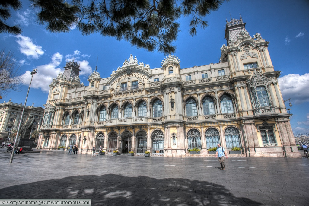 The beautifully ornate old customs building, Barcelona, Spain