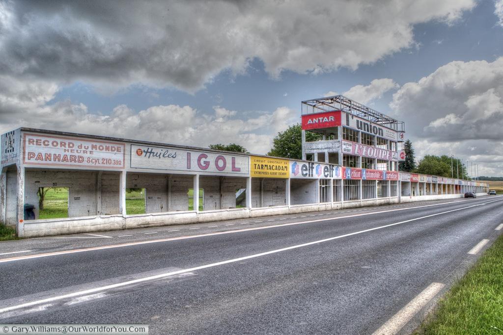 The pit complex Circuit Reims-Gueux, France