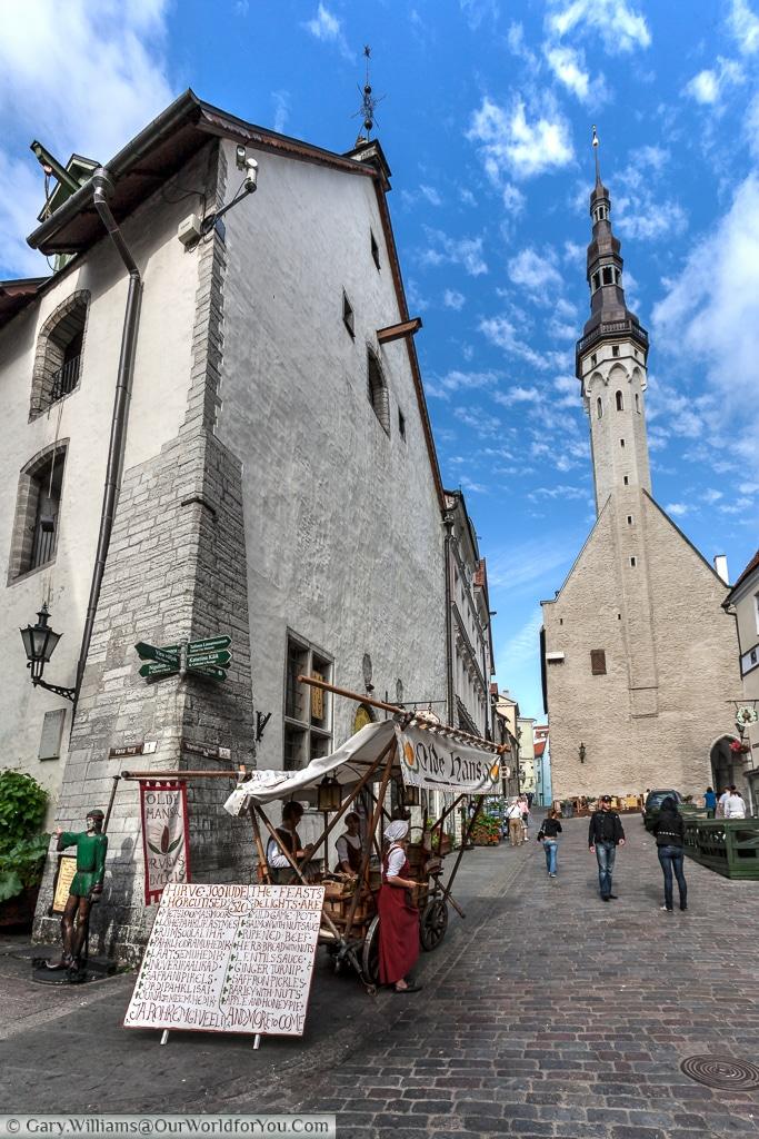 The streets around the Old Town Hall, Tallinn