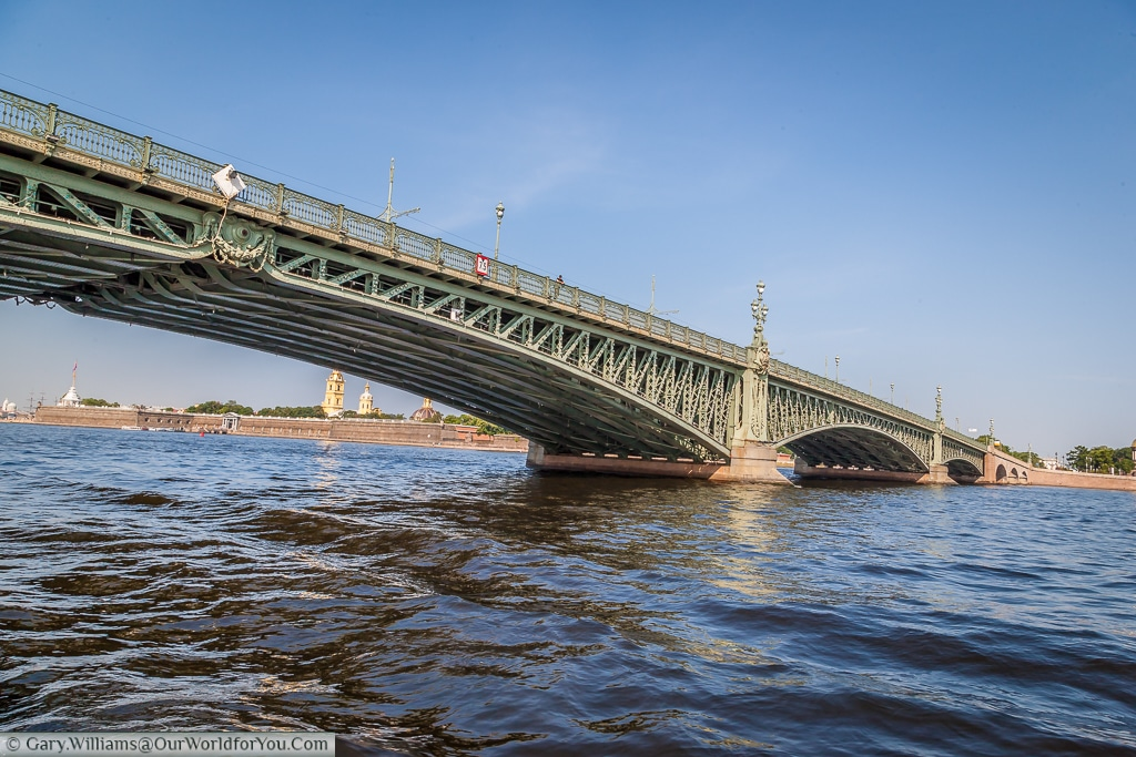 Trinity Bridge over the Neva River, St Petersburg, Russia
